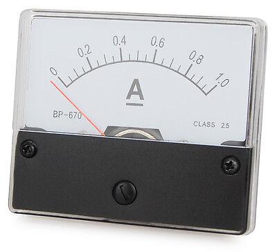Messinstrument 0 - 1 A DC zum Einbau, Einbaumessinstrument, Analog Amperemeter