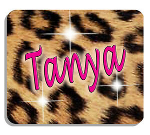 Genial Leopard Design Mouse Pad Personalize Gifts Any Name Or Text Jungle Wild Cat
