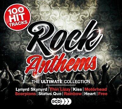 ULTIMATE ROCK ANTHEMS (HALLOWEEN, ANTHRAX, IGGY POP, MOTÖRHEAD, ...) 5 CD NEU