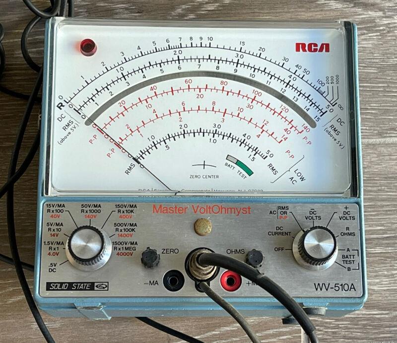 Vintage RCA Master VoltOhmyst Voltmeter - Model WV-510A