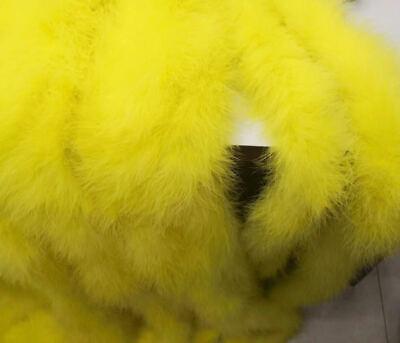 Yellow Marabou Fluffy Boa 6 feet 2 Yards 50g Very Thick](Yellow Boa)