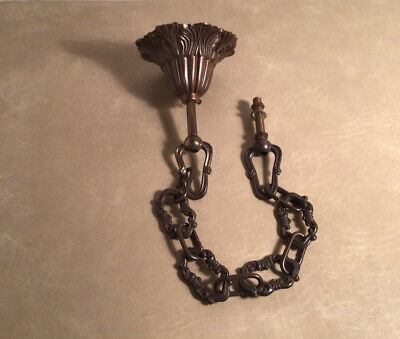 Vintage Brass Ceiling Hook And Chain