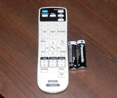 Epson Projector Remote Control With Fresh Batteries 159917600 Projecter