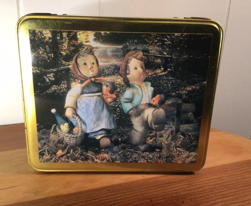 "VTG .Hummel Goebel Collectible Metal Tin Box, 1993,England, ""Happy Traveler"""