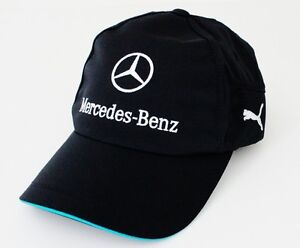 NEW  AUTHENTIC PUMA MERCEDES-BENZ AMG TEAM BLACK FAN TRUCKER HAT CAP PMMO2001