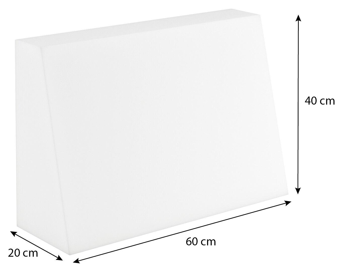 Schaumstoffplatte für Europalette Polsterauflage Matratze Zuschnitt 120x80cm Rückenkissen 60x40x20/10cm