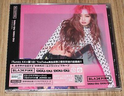 BLACKPINK BLACK PINK DDU-DU DDU-DU K-POP JAPAN SINGLE ALBUM CD JENNIE VER. NEW