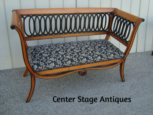 60424 Neo Classical MERONI Italian   Loveseat Bench Settee Couch Chair Italy