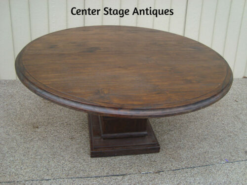 """59497   Large Rustic Round Dining Room Foyer Table Stand  60"""" Round"""