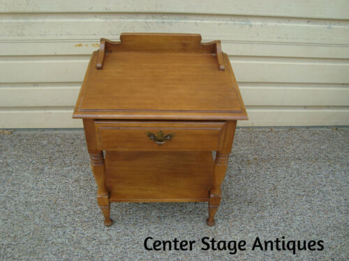 60043  Solid Maple Nightstand End Table Stand