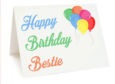 Ballon Geburtstags Karte für Freund Best Mate Schwester Alles Gute Zum ()