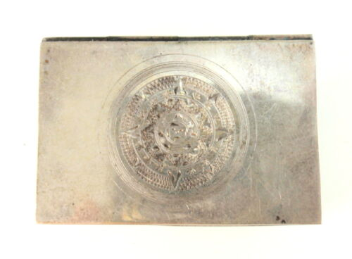Vintage Mexican Sterling Silver Trinket Pill Box