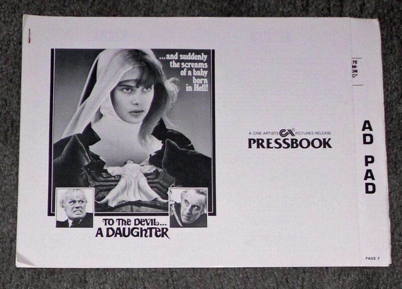 TO THE DEVIL A DAUGHTER original 1976 pressbook CHRISTOPHER LEE/NASTASSJA KINSKI
