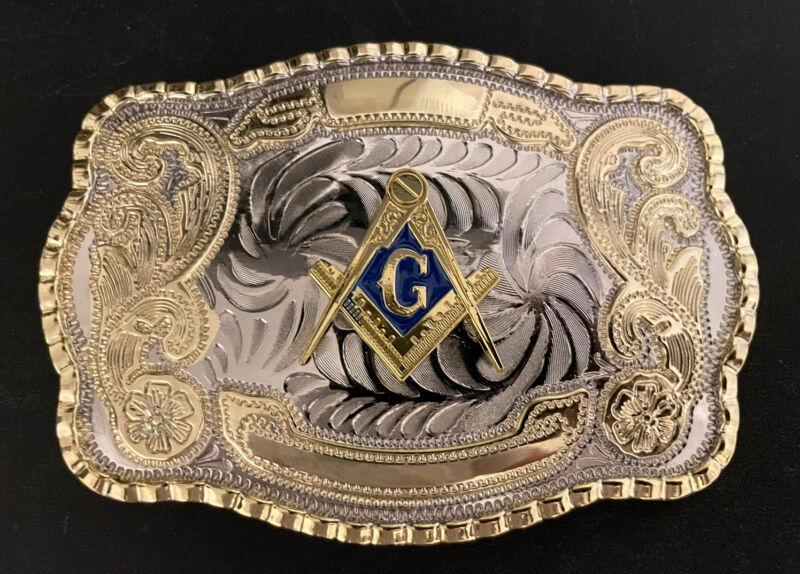 Masonic Freemason Western Style Belt Buckle