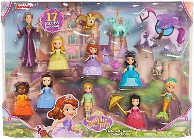New Disney Junior Sofia the First Deluxe Friends Collection 17 Piece Figure Set Childs First Collection