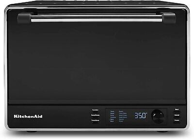 KitchenAid KCO255BM Dual Convection Countertop Toaster Oven.99Cu., Matte Black