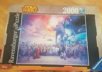 Ravensburger 2000 piece jigsaw puzzle Disney Star Wars Universe