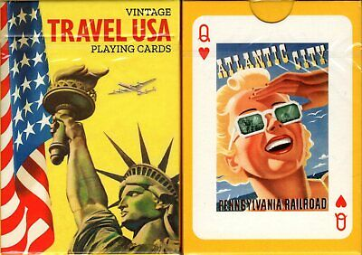 Travel USA Playing Cards Poker Size Deck Piatnik Custom Limited Edition New
