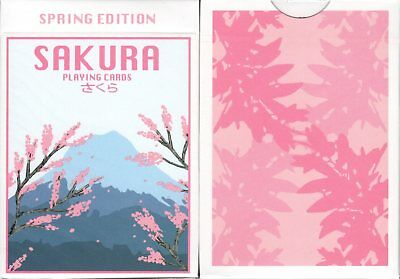 Sakura Spring Playing Cards Poker Size Deck USPCC Custom Limited Edition Sealed