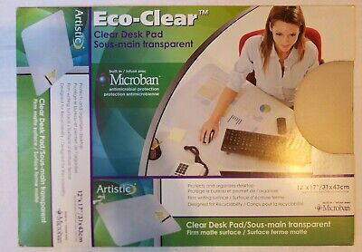 Artistic Krystalview Desk Pad With Microban Matte 17 X 12 Clear.
