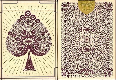 Papercuts Intricate Hand-Cut Playing Cards Poker Size Deck USPCC Custom Limited