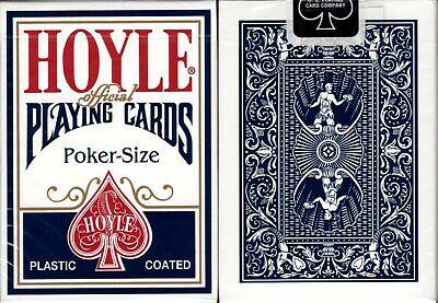Hoyle Standard Blue Deck Playing Cards Poker Size USPCC Plastic Coated Sealed Hoyle Poker Deck