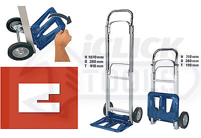 Einhell BT-HT90 Folding Truck 90kg Capacity Sack Trolley Hand Truck 2260112