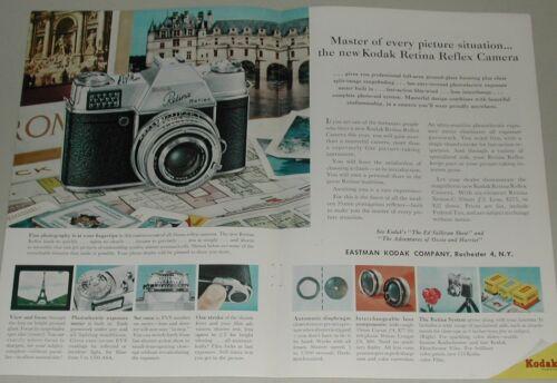 1958 Kodak 2-page advertisement for Retina Reflex Camera, detail photos