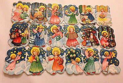 1 Alter Bogen EAS Glanzbilder-scrabs - Oblaten dick Geprägt Nr. 3131 Weihnachten
