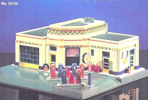 GAS-O-MAT GAS SERVICE STATION Art Deco 1920s Style Lefton Roadside USA 1995 MIB