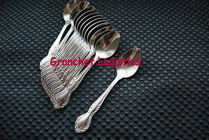 Espresso / Demitasse Spoons ~ 1 Dozen ~ Elegance Pattern ~ New In Box SS 4 5/8