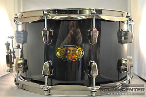 Ludwig-Epic-Birch-Maple-Snare-Drum-8x14-Black-Gloss-Free-Shipping