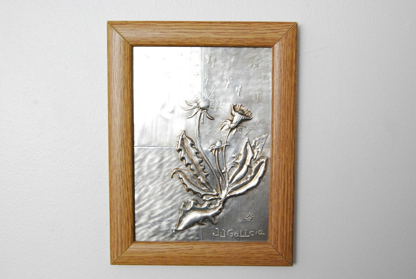 Dandelion Metal Wall Decor : Metal wall art beautiful dandelion relief x in