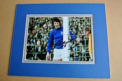 JOHN GREIG SIGNED Autograph 10X8 Photo Mount Display GLASGOW RANGERS PROOF COA
