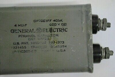 4uF 600v GENERAL ELECTRIC CAPACITOR  CP70E1FF405K DC 5910-01-047-1575 Mil