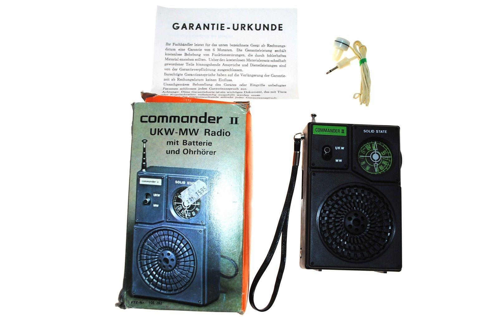 Commander II Transistorradio 2-Band-Radiogerät Rundfunkempfänger unbenutzt!!