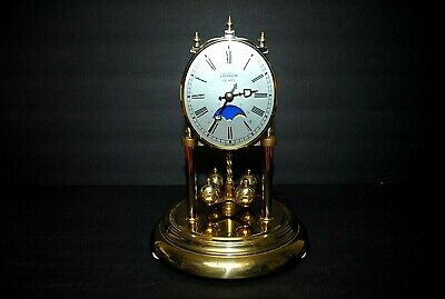 VINTAGE BRASS SUNBEAM 400 DAY ANNIVERSARY CLOCK FOR PARTS REPAIR CRYSTAL GERMANY