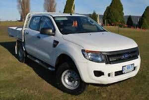 2013 FORD RANGER XL 4X4 FLAT TRAY AUTOMATIC - ONLY 76,000 KLMS North Hobart Hobart City Preview