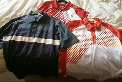3 x Puma & Sunice Golf Polo Shirts Size Large