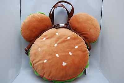 Tokyo Disney Resort Hamburger Plush Shoulder Bag 2 way Burger Tote Mickey Shape