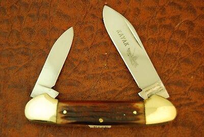 PARKER CUT CO WINTERBOTTOM BROWN BONE KAYAK CANOE KNIFE (3713)