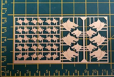 Warhammer 40,000 Space Wolves Space Marine Chapter Symbols Brass Etch