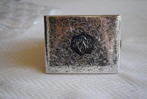 Vintage R. Blackinton & Co. Sterling Silver Monogrammed Cigarette Case No.613