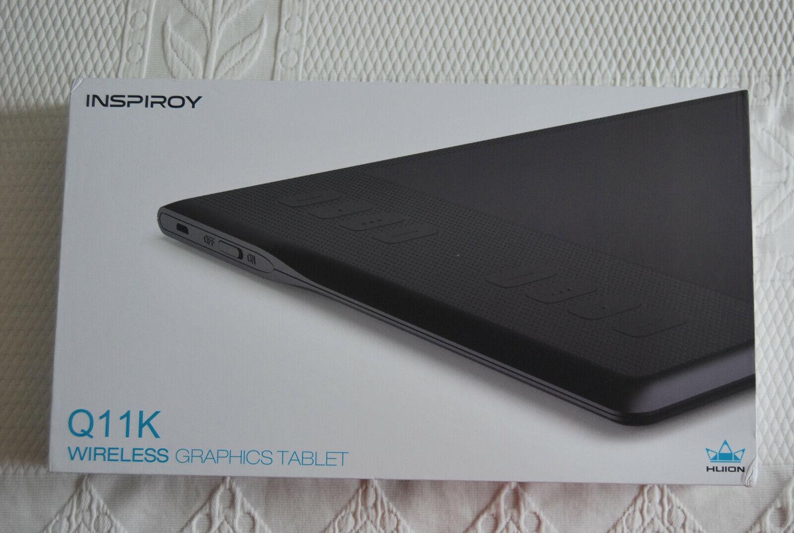 Tablette graphique huion avec stylet inspiroy q11k sans fil  neuf