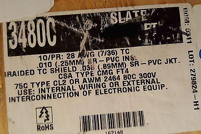 Alpha Wire 3480c 2810p Twist Pair Multi Shield Communicationcontrol Cable50ft