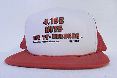 cb2c3ec2 1986 PETE ROSE 4192 HIT TY BREAKER BASEBALL HAT FANTASTIC PRODUCTIONS RARE