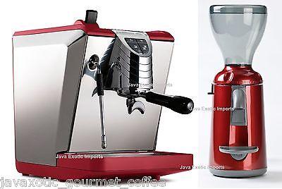 Simonelli Oscar Ii Espresso Machine Grinta Coffee Grinder Combo Red