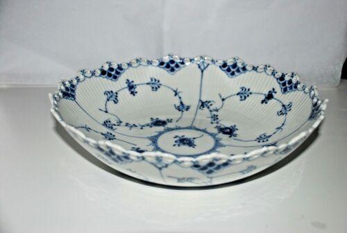 Royal Copenhagen blue fluted full lace rare dish/bowl 11 inch round, #1022