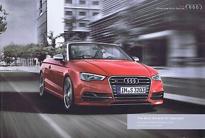 Audi A3 & S3 cabriolet brochure/leaflet edition 6.0 2016