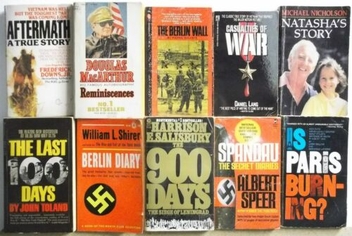 Lot of 10 TRUE WAR HISTORY ANECDOTES  Books FREE US S/H Read List Lot #H649